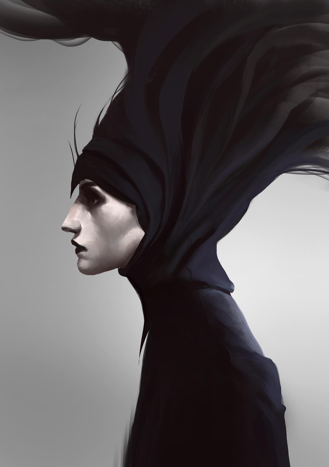 Portrait study by hugo-richard