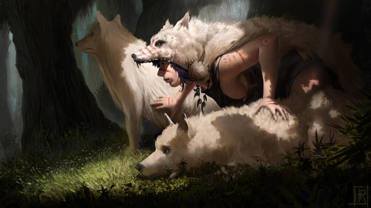 Princess' wolves by hugo-richard