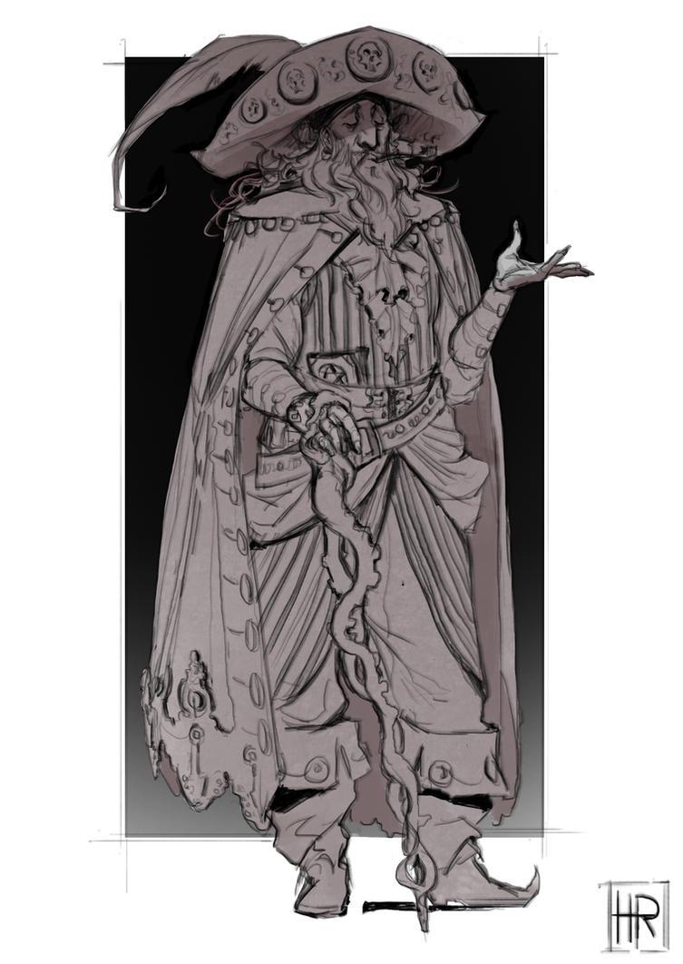 Bihrom the Pirate Wizard by hugo-richard
