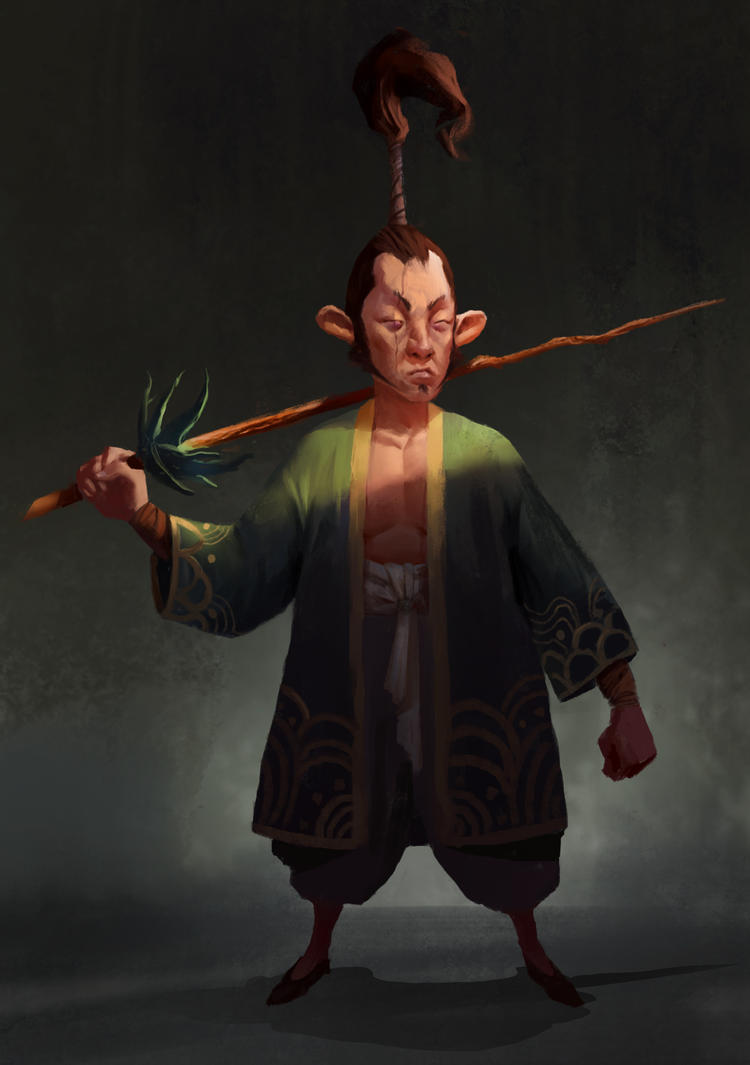 Blind Samurai by hugo-richard