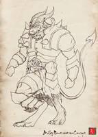 Bulky Demon Sketch by castortroy3497