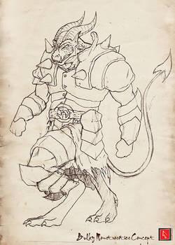 Bulky Demon Sketch