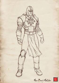Sun King Soldier Sketch