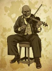 Fiddler Raw Card Illustration by castortroy3497