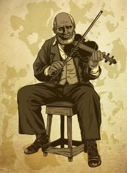 Fiddler Raw Card Illustration