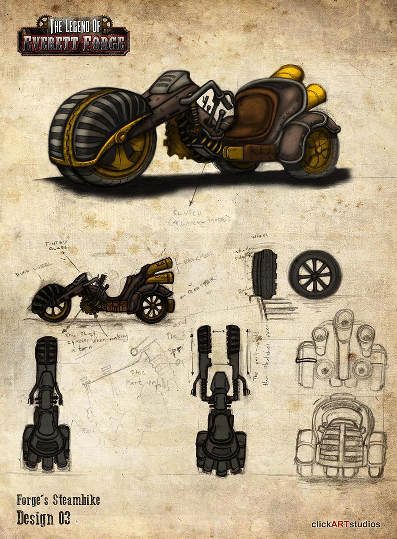 Steam Trike Design 03 by castortroy3497