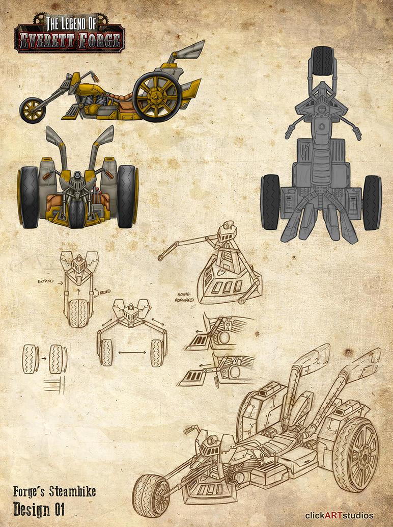 Steam Trike Design 02 by castortroy3497