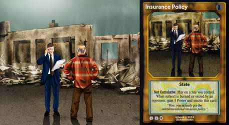 Insurance Policy Card by castortroy3497