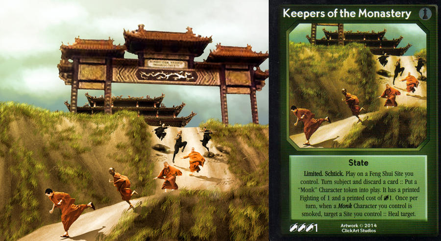 Keepers of the Monastery Card by castortroy3497