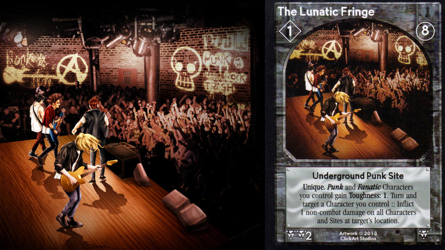 The Lunatic Fringe Card by castortroy3497