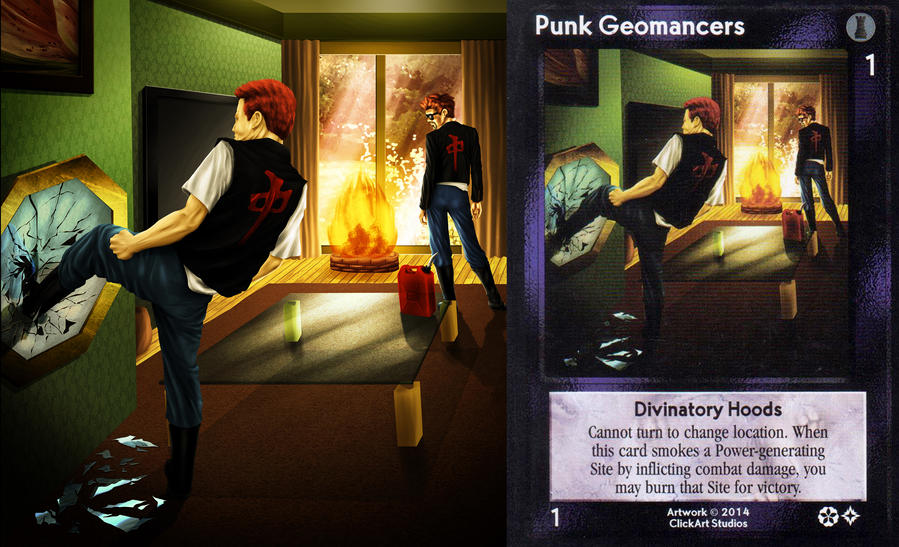 Punk Geomancers Card by castortroy3497