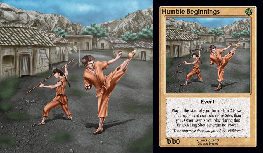 Humble Beginnings Card by castortroy3497