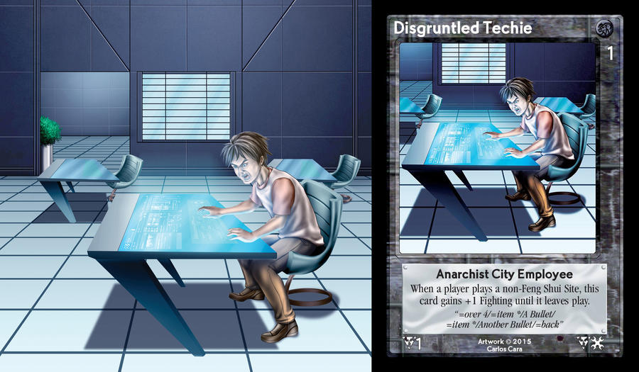 Disgruntled Techie Card by castortroy3497