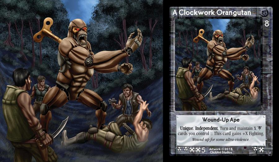 A Clockwork Orangutan Card by castortroy3497