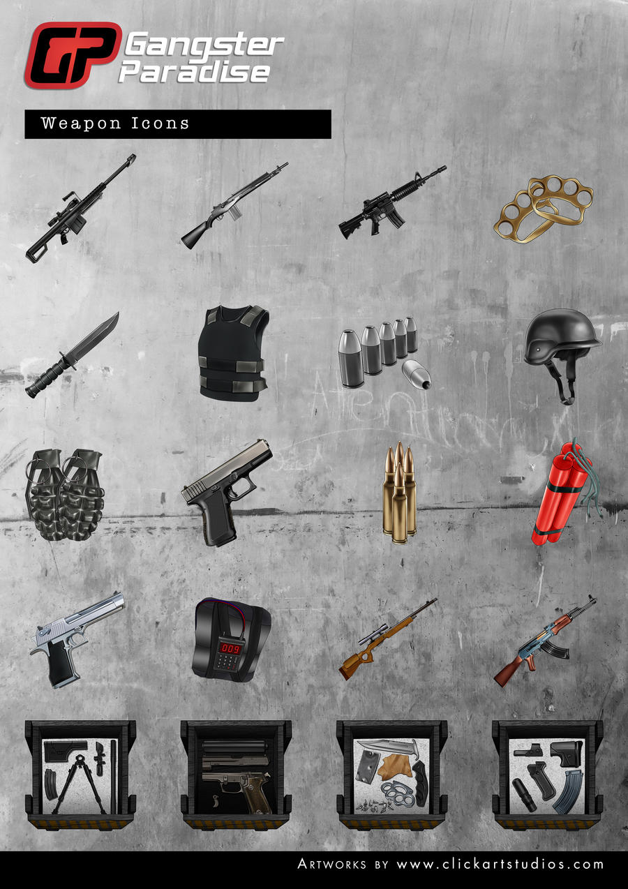Weapons by castortroy3497