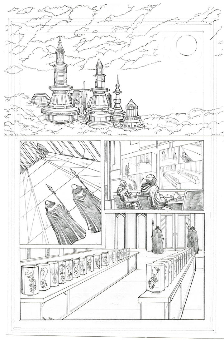 TSBC Issue #1 Page 2 Pencil Sketch by castortroy3497