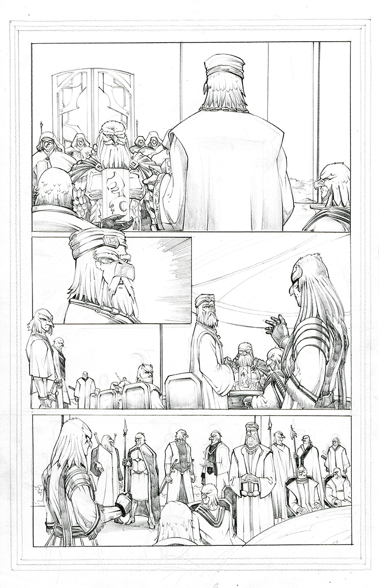 TSBC Issue #1 Page 7 Pencil Sketch by castortroy3497