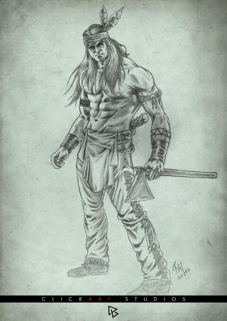 The Indian Warrior by castortroy3497