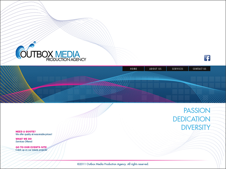 Outbox Media Website design Study 3 by castortroy3497