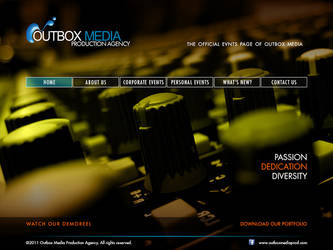 Outbox Media Website design Study 6 by castortroy3497