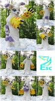 Gatomon V. 2 Cat Digimon Fursuit OOAK (by ESC)