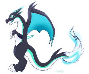 Sacrifice (Shiny Mega Y Charizard): Dragon Form by Eternalskyy