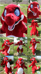 Skrom the Red Dragon Fursuit - Kemono Style (2018)