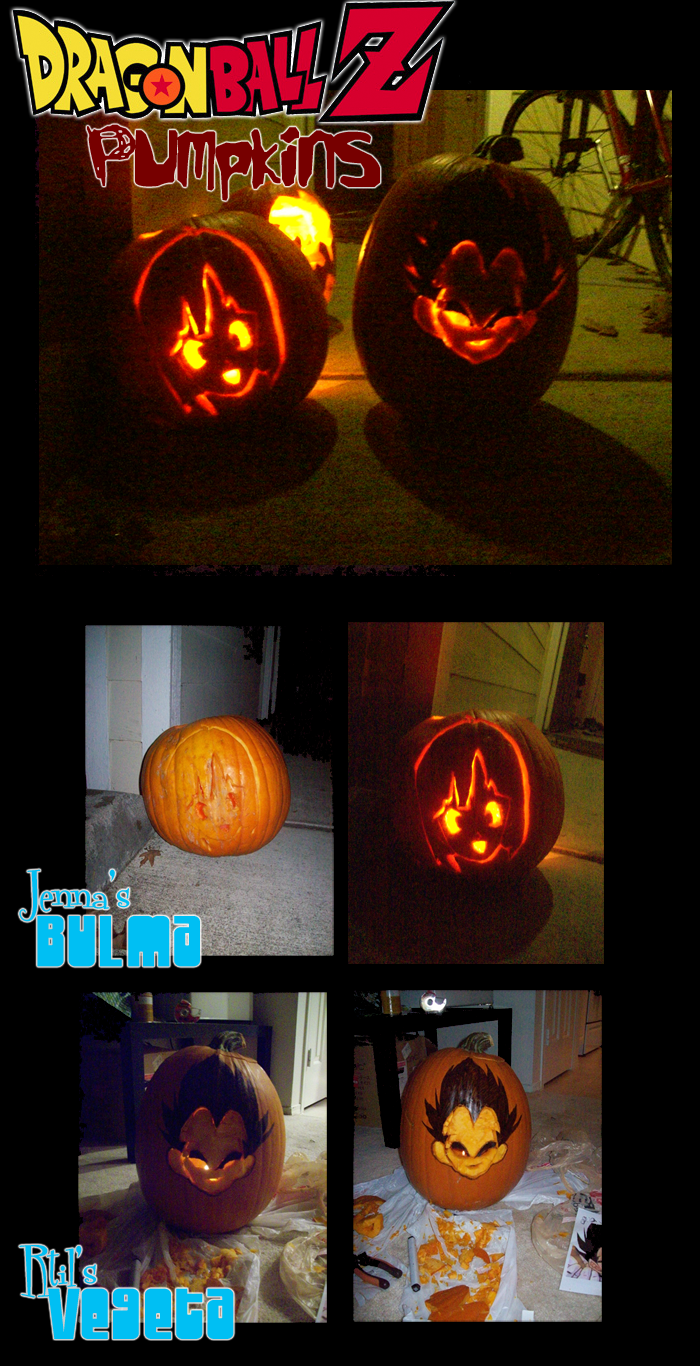 Dragonball Z Pumpkins by Channel-Square on DeviantArt