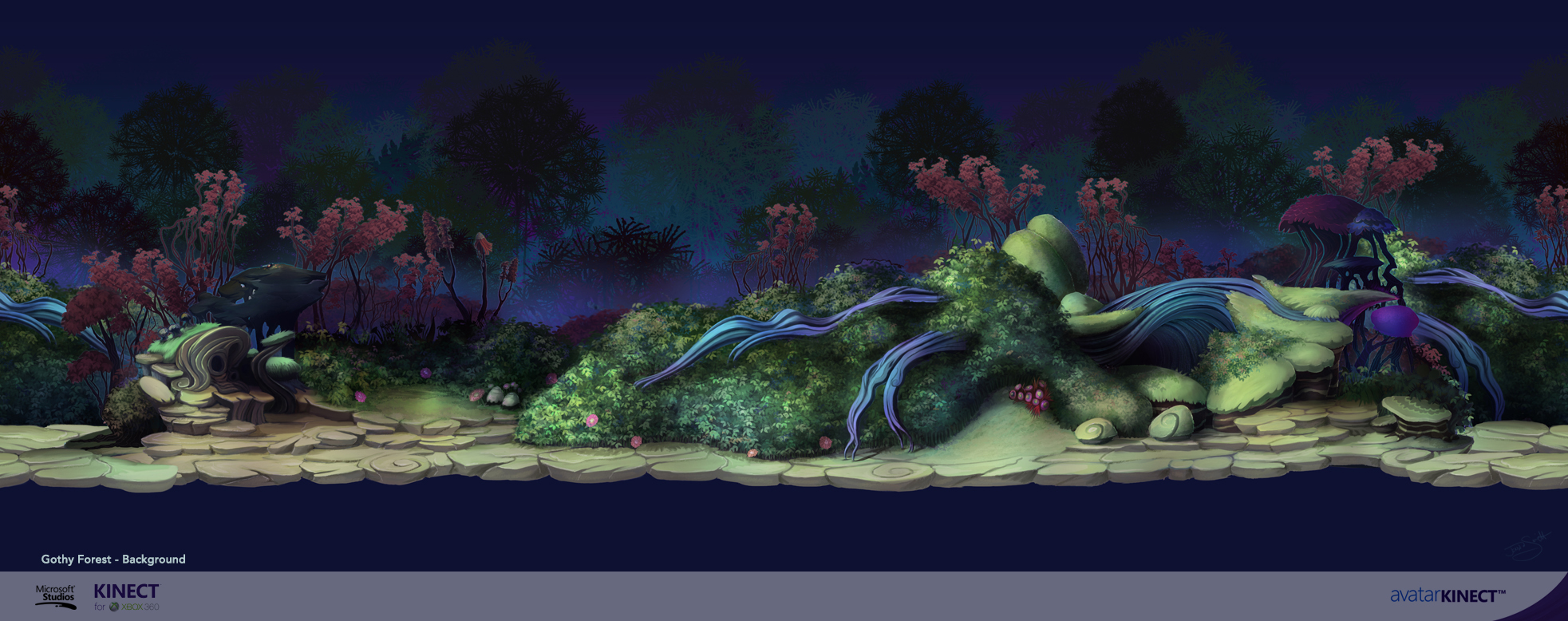 Avatar Kinect Gothic BG layer by Channel-Square