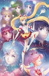 Sailor Moon Group Poster by Channel-Square