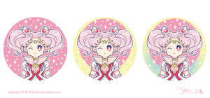 Sailor Chibi Moon Button Concepts