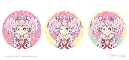Sailor Chibi Moon Button Concepts by Channel-Square