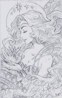 Wonder Woman Sketch Commission by Channel-Square