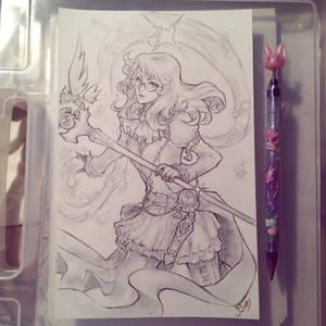 Sketch Commission Dark Mage