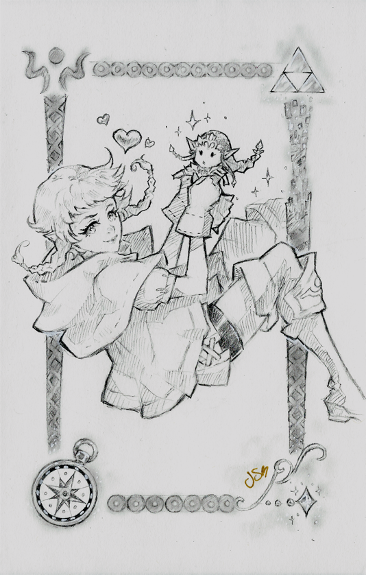 Linkle Sketch Commission by Channel-Square