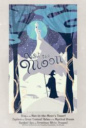 Moon travel poster - Roverandom by Evergreena