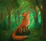 Forest Fox by Evergreena