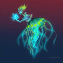 Jellyfish Sorceress by Evergreena