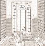 The Mage in His Library -lines