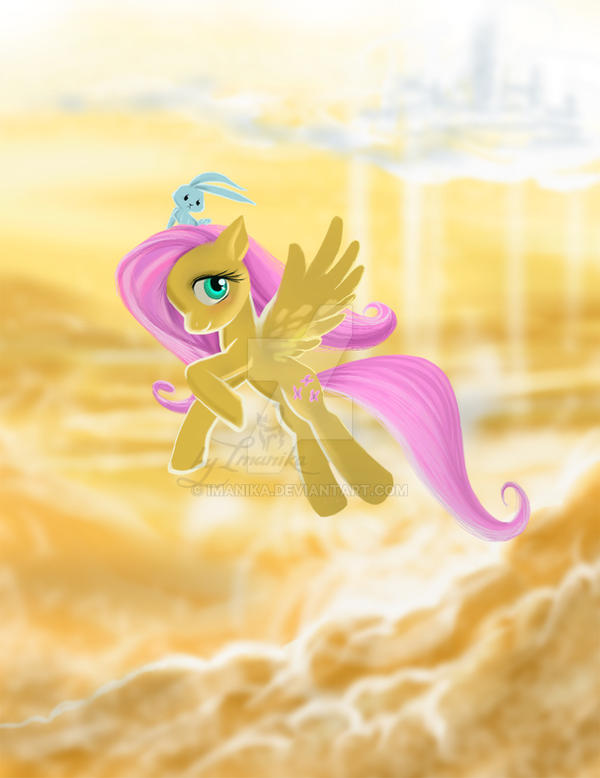 flying fluttershy by Imanika
