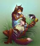Tigress and fox comission