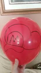 Mario Hat Balloon Art by AnimeKatieKitty