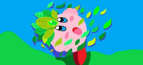 Leaf Kirby by AnimeKatieKitty