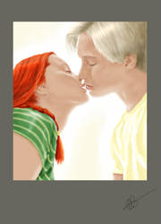 Kiss - Draco and Ginny by catnip-H