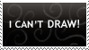 I Can't Draw Stamp