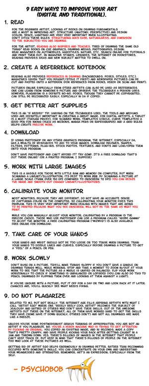 9 easy ways to improve yo' art