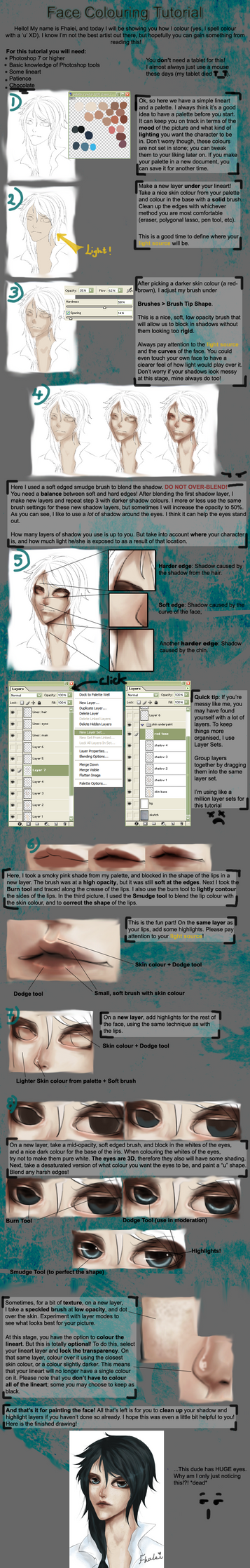 Face Coloring Tutorial by Fhalei