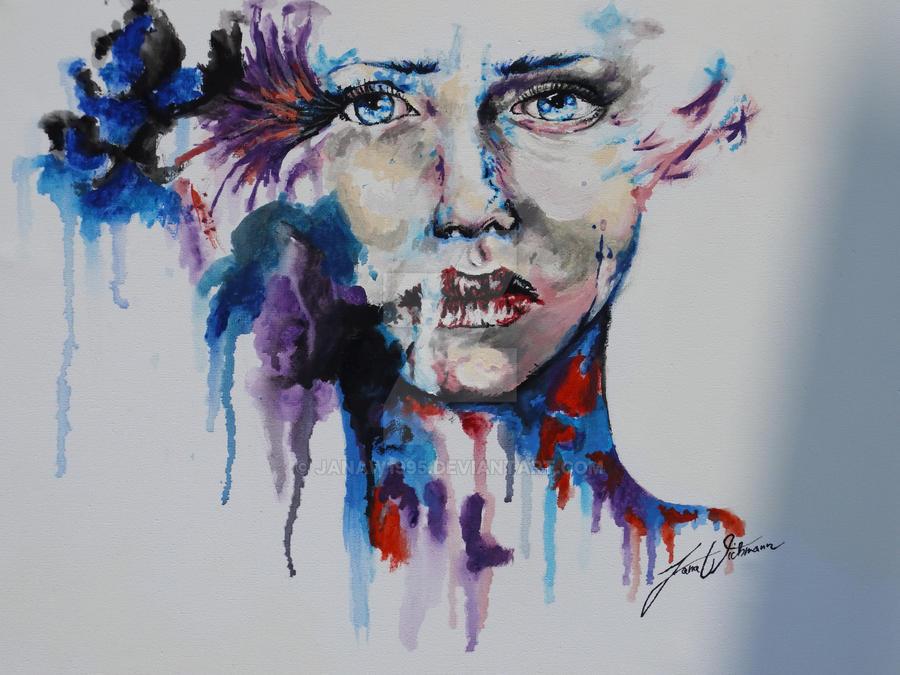 thinking Lady by JanaW1995