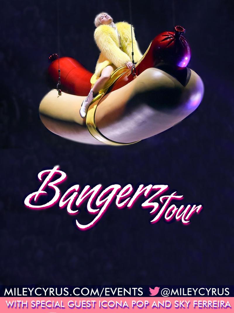 BANGERZ TOUR Fanmade Poster by twerkcyrusbieber on DeviantArt