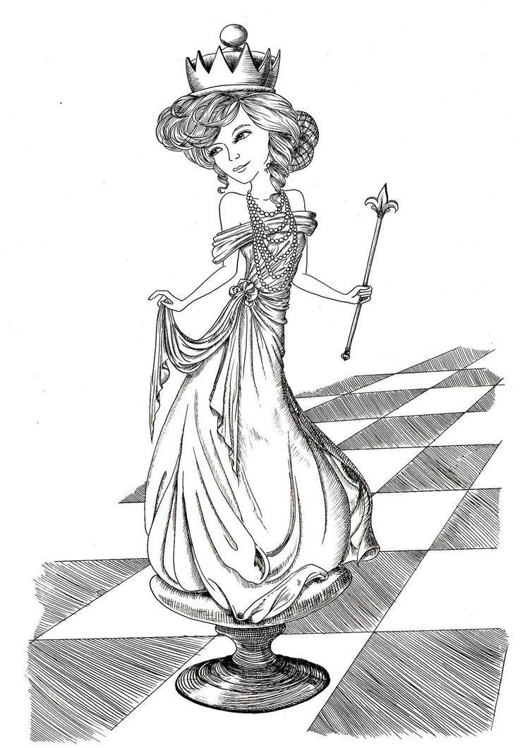 white queen lineartlousasa on deviantart